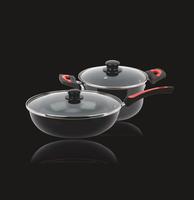 慕尼黑晶瓷两件套(材质工艺:优质精铁+搪瓷珐琅工艺 ;规格尺寸:炒锅32CM/汤锅24CM ; 适用:煤气炉、电炉、陶瓷炉、卤素炉)