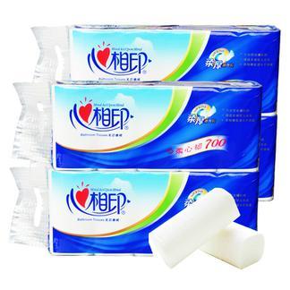 心相印卷纸无芯家用纸巾心心相印卫生纸厕纸大批发家庭装40卷筒纸