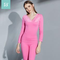 I'd爱帝暖冬新品女式蕾丝印花塑身美体保暖内衣套装加厚加绒修身内衣