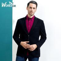 金狐狸男装 中年男士商务婚礼西装外套男 秋装新款纯色羊毛西服男T751083840