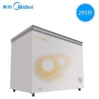 美的(Midea)冷柜BD/BC-295KM旋律金 卧式冷冻冷藏 单温一室 随心转换 锁冷 白色