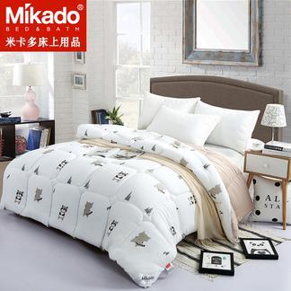 米卡多羽丝被冬被被子加厚保暖被芯空调被棉被褥单人双人冬季