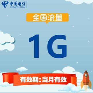 中国电信全国流量充值 1G