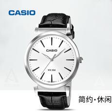 casio/卡西欧手表男简约石英表防水皮钢带正品男表MTH-1059L-7A