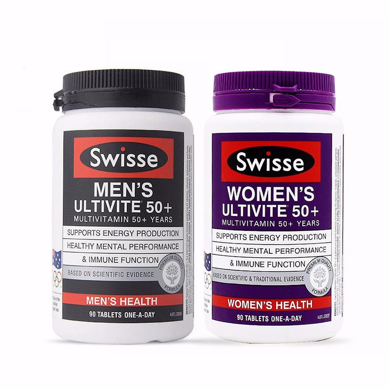 【澳洲直邮|包税包邮】 Swisse 50+中老年男女维生素90粒