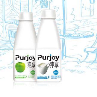 君乐宝纯享酸奶360ml益生菌发酵酸奶原味酸奶 青苹果味酸奶16瓶/箱