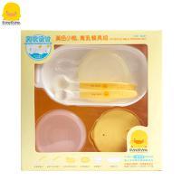 黄色小鸭 离乳餐具8件组初生礼盒 宝宝离乳 汤匙勺碗 330094