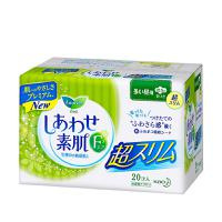 日本花王乐而雅F系列卫生巾日用棉柔护翼无荧光22.5cm 20片