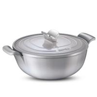 苏泊尔(SUPOR) 26cm珐琅铸铁汤锅炖煮锅4L煲汤锅电磁炉燃气可用FLT26A2 银灰