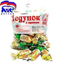 【俄罗斯进口】斯拉夫人三颗榛子巧克力士力架 榛子巧克力糖 果仁巧克力 喜糖 1000克*袋