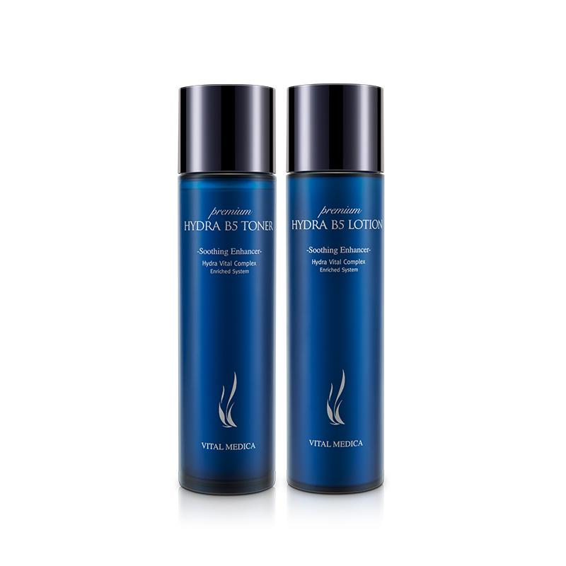 韩国 AHC B5玻尿酸补水保湿水乳套装 爽肤水120ml+乳液120ml