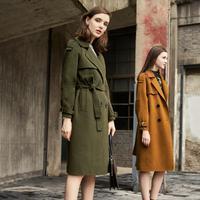 puella明星同款双面呢大衣女士2017新款冬装韩版时尚H型中长款毛呢外套20010881【5.5折】