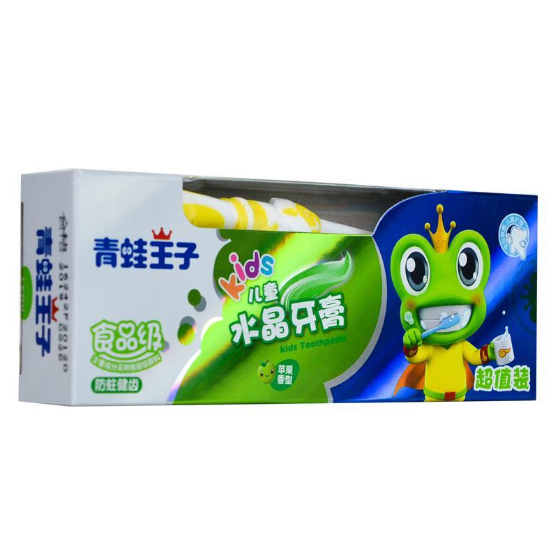 【天顺园店】青蛙王子儿童水晶牙膏(苹果)50g(编码:533151)