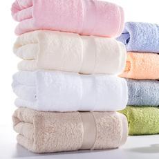 花果果 素缎长绒棉浴巾 透气蓬松 柔软舒适 吸水快干