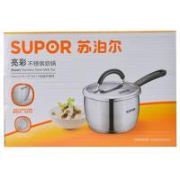 【超级生活馆】苏泊尔亮彩不锈钢奶锅16cm(编码:485343)