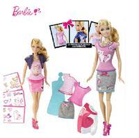 芭比玩具 芭比百变随心印 BDB32 芭比女孩套装礼盒【五折特惠】