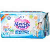 【天顺园店】花王妙而舒瞬爽透气腰贴式婴儿纸尿裤L56片(编码:585709)