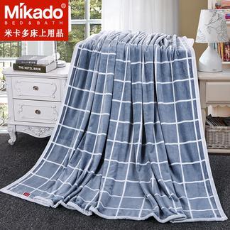 米卡多毛毯空调毯加厚珊瑚绒毯子毛巾被盖毯法兰绒午睡毯