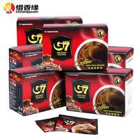 越南进口中原G7纯速溶黑咖啡6盒组合无糖无奶 可冲泡90杯