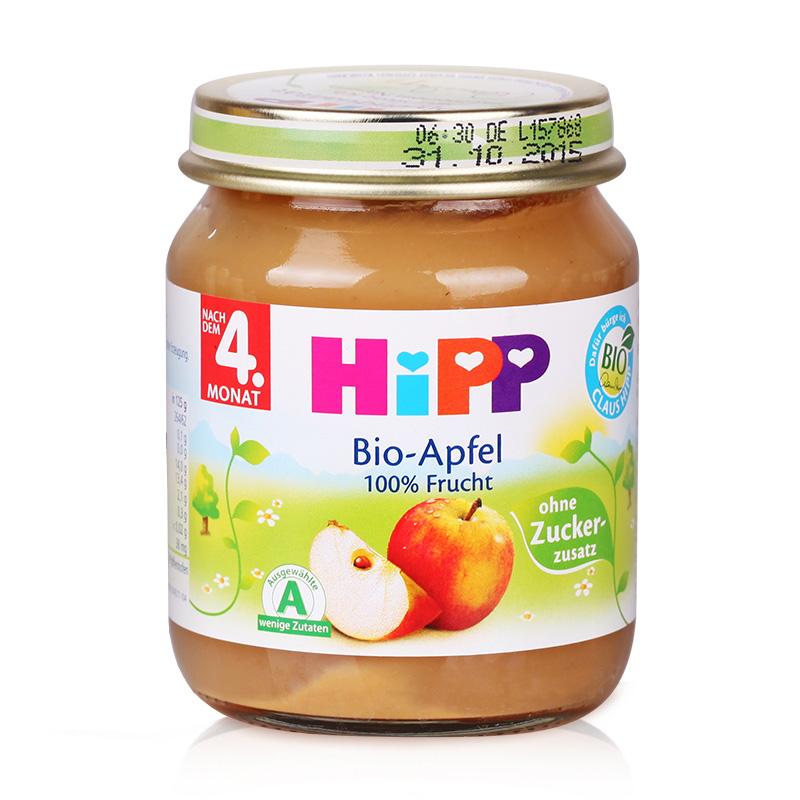 【德国直邮】Hipp 喜宝有机免敏苹果泥辅食泥125g 4个月以上 4220