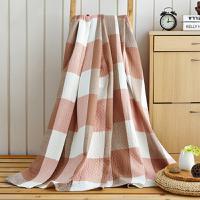 花果果 复古大格 日系简约风 水洗棉纱布毯 吸湿透气柔软舒适