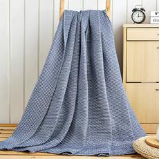 花果果 映波尔曼 日系简约风 水洗棉纱布毯 吸湿透气柔软舒适