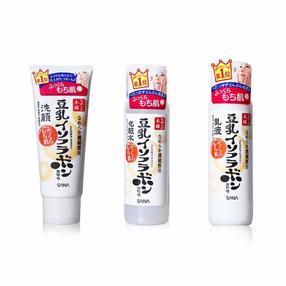 日本SANA/莎娜 豆乳美肌洗面奶150ML+清爽化妆水200ML+乳液150ML 组合装