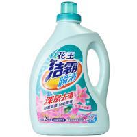 【超级生活馆】花王洁霸瞬清无磷洗衣液(恬静百合香)瓶装2千克(编码:585717)