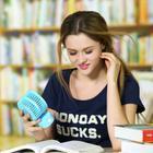 可充电迷你情侣USB小风扇旋转折叠学生寝室办公室静音创意电风扇