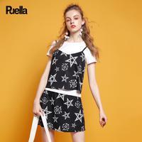 puella普埃拉2017夏新款T恤裙装三件套套装女20009933