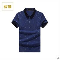 罗蒙Polo衫男短袖棉商务休闲印花t恤2016年新款男装2T64295