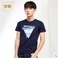 Romon/罗蒙短袖男士t恤上衣男夏季时尚休闲印花修身男装棉2T72134