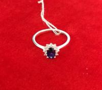 周大福  蓝宝石戒指