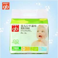 Goodbaby好孩子 植物木糖醇口手湿巾25P4连包 清洁湿巾组合装 U1205