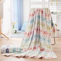 花果果 大象 五层全棉纱布盖毯 吸湿透气 柔软细腻