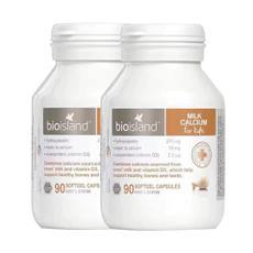 【澳洲直邮|包税包邮】Bio Island婴幼儿全天然液体乳钙胶囊 90粒