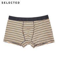 SELECTED思莱德男士撞色平角针织内裤三条装41727G502