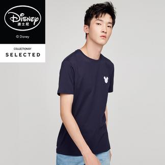 SELECTED思莱德纯棉胶印男短袖T恤417301527