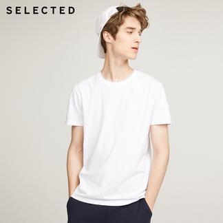 SELECTED思莱德新款纯棉男短袖T恤417301508