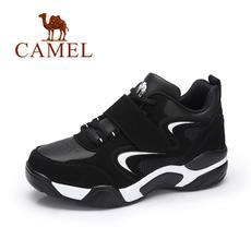 camel 骆驼女鞋2017秋季新款小白鞋韩版潮单鞋舒适透气学生厚底女运动鞋