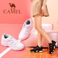 camel 骆驼女鞋 2017秋季新款时尚运动鞋 防滑耐磨黑白女运动鞋