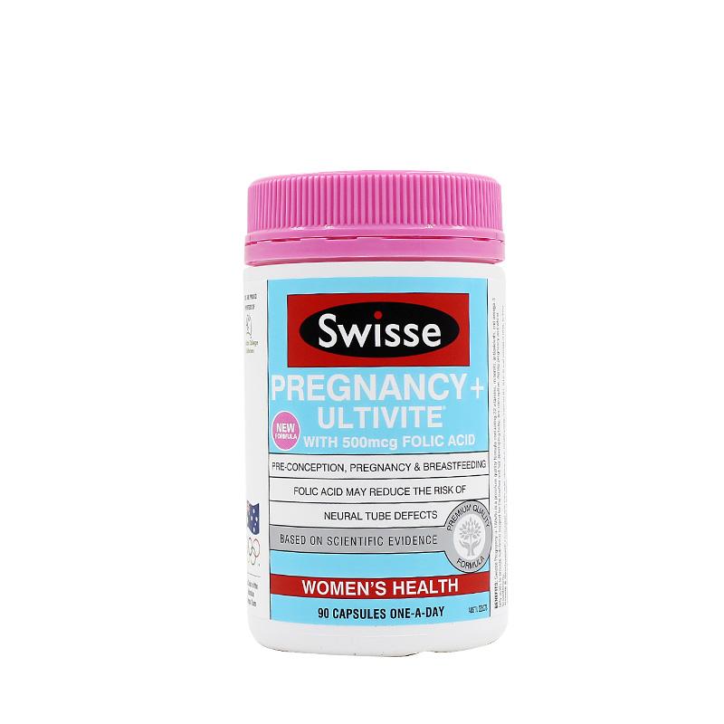 澳洲Swisse 孕妇叶酸加维生素胶囊 90粒