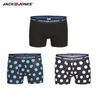 JackJones杰克琼斯男士夏季三双弹力四角裤头平角内裤 217292502【五折特惠】