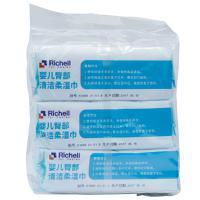 【超级生活馆】利其尔婴儿臀部清洁柔湿巾 80片装3连包(编码:597859)