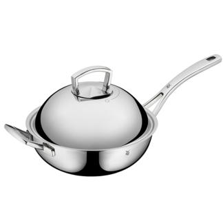 【德国直邮】 WMF 福腾宝中式不锈钢炒锅带锅盖少油烟无涂层 直径28CM