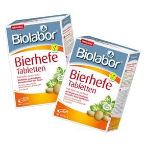 【德国直邮】[2盒] BIOLABOR百澳乐伯啤酒酵母片 排毒美容酵母酵素400片