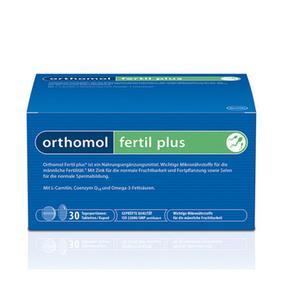 【德国直邮】[1盒] ORTHOMOL奥适宝 FERTIL PLUS男性提高精子活力幸福番茄红素 片剂+胶囊,30组