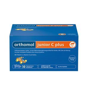 【德国直邮】[1盒] ORTHOMOL奥适宝JUNIOR C PLUS儿童提高免疫抵抗力复合营养素90片30天装, 橘子味