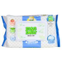 【天顺园店】咪呢小熊80片加盖装婴儿洁肤柔湿巾80片(编码:575845)