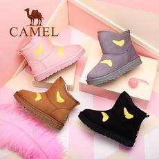 camel 骆驼女鞋 2017冬季新款 韩版百搭学生雪地靴女保暖防滑短筒女靴子